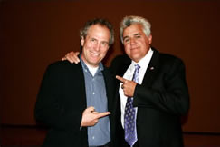 Web Burrell and Jay Leno